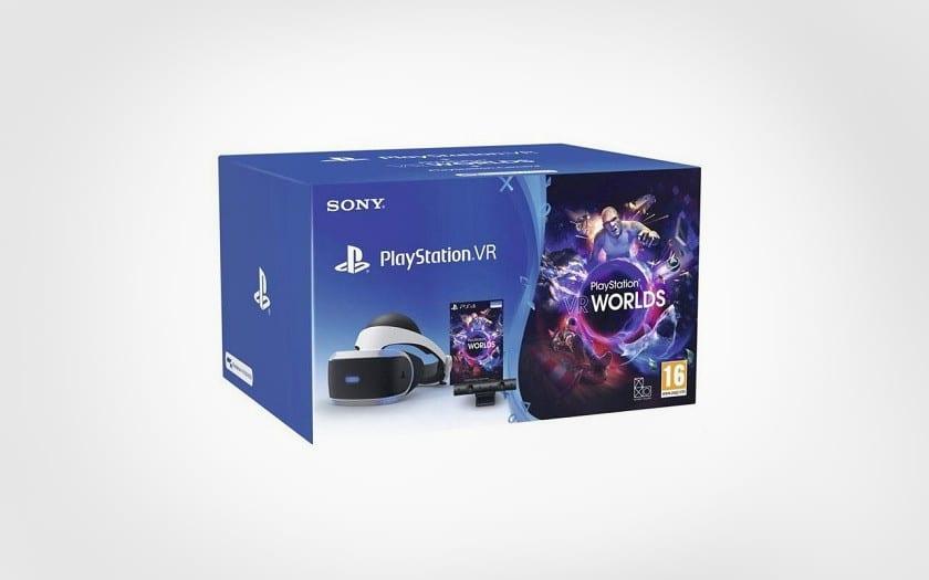 Casque Playstation VR + camera V2 + VR Worlds