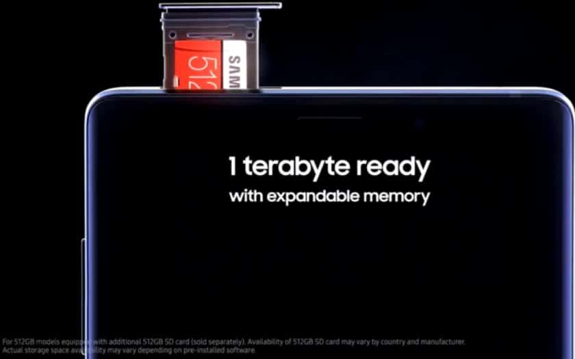 Galaxy note 9 stockage interne-512