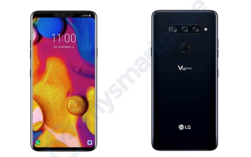 LG V40 ThinQ design