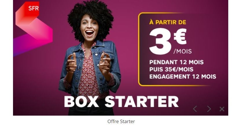 abonnement internet sfr starter box