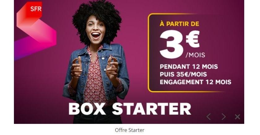 abonnement internet sfr starter box