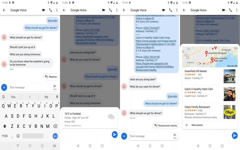 android messages google assistant