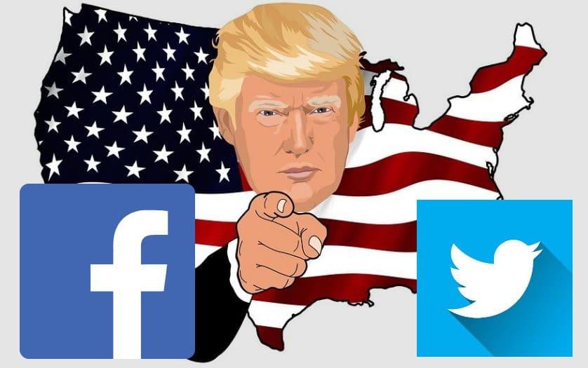 facebook twitter trump bannir