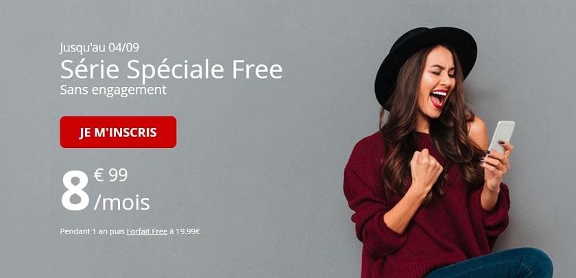 forfait free mobile 60 go à 8,99 € / mois pendant 1 an