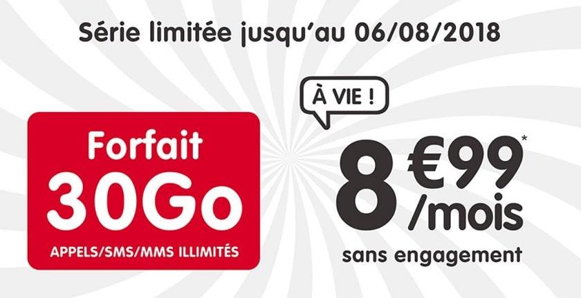 forfait nrj mobile 30 go à 8.99 €