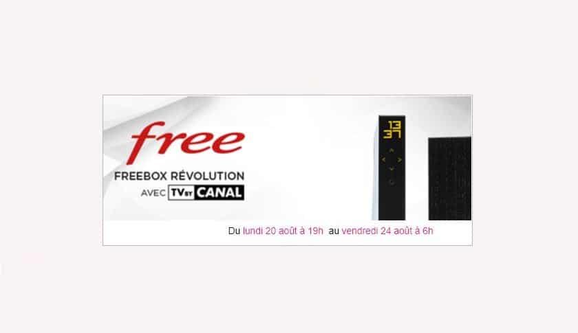 freebox revolution nouvelle vente privée août 2018