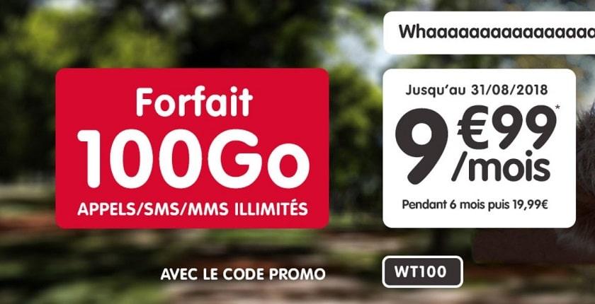 forfait nrj mobile 100 go à 9.99 € / mois pendant 6 mois