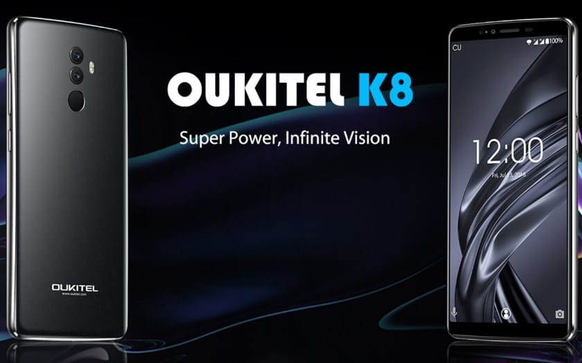 oukitel k8 batterie 5000 mAh