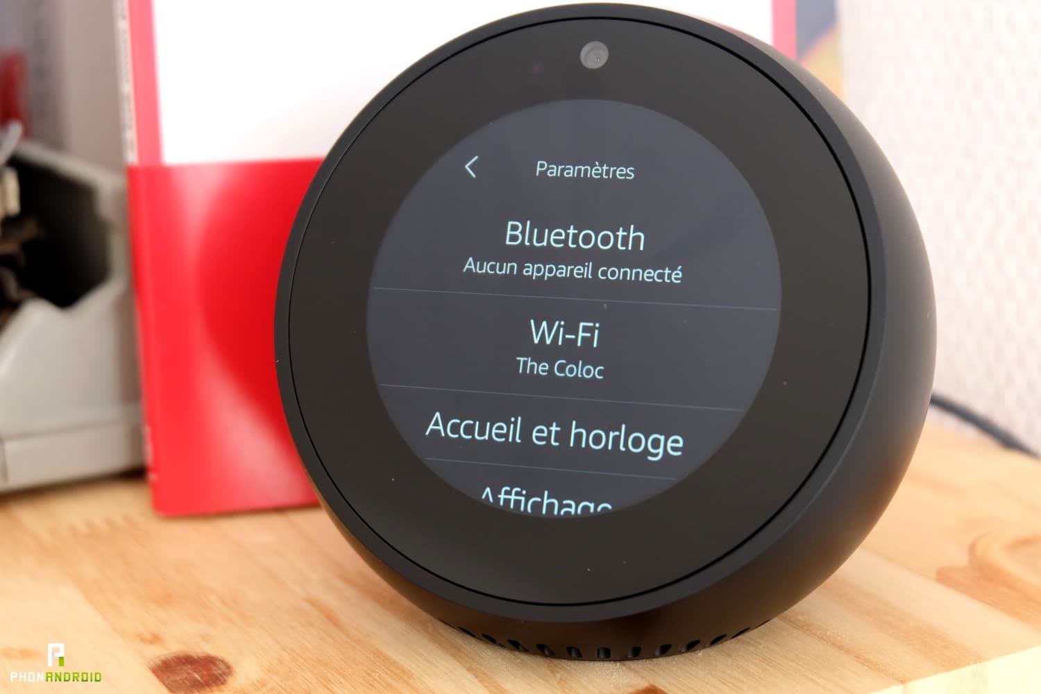 test amazon echo spot parametres