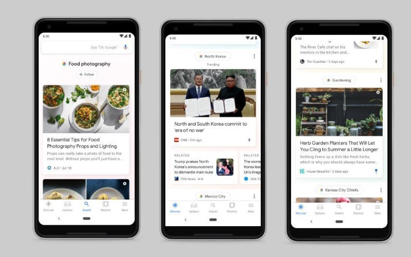 google feed discover flux actualites