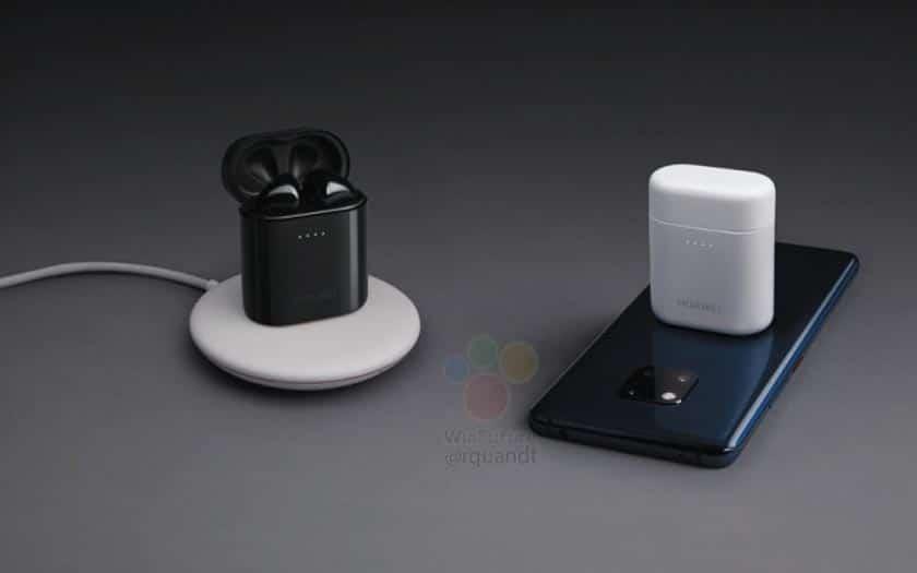 le dos du mate 20 peut recharger les airpods huawei sans fil. Black Bedroom Furniture Sets. Home Design Ideas