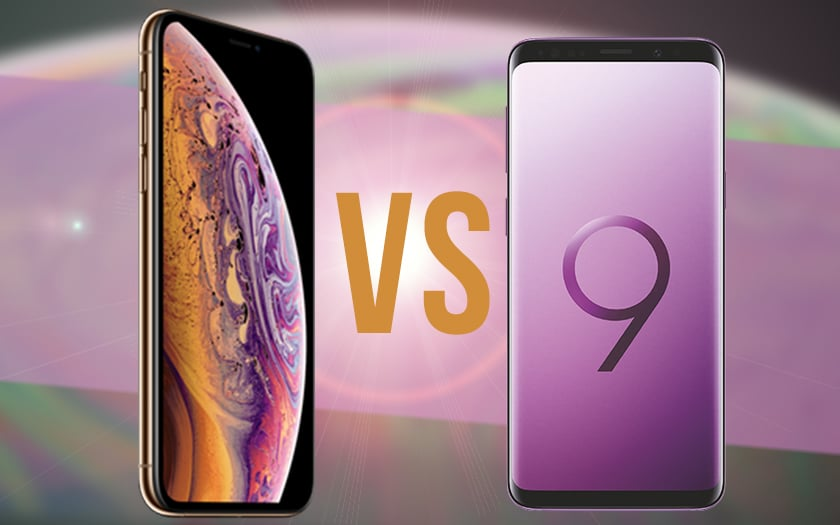 iPhone xs galaxy S9