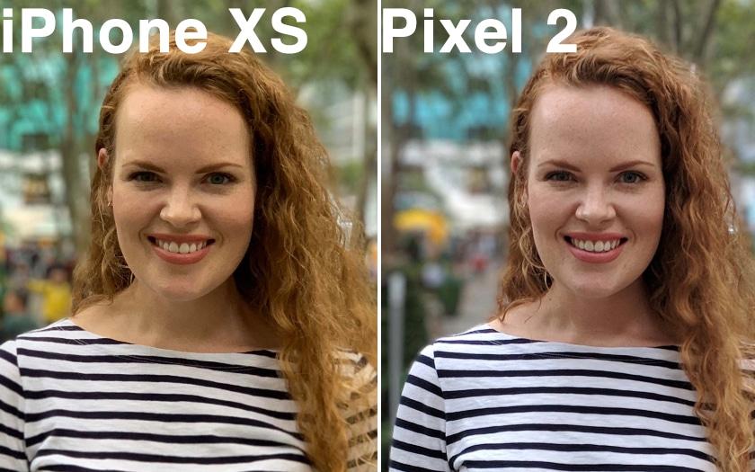 iphone xs pixel 2 comparaison photo