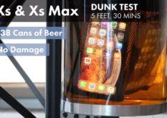 iphone xs test etanche biere 1