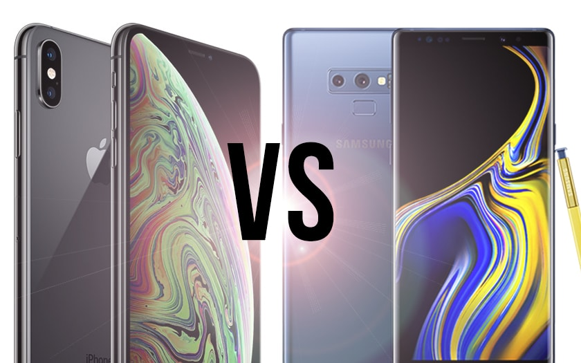 iPhone xs max vs galaxy note 9