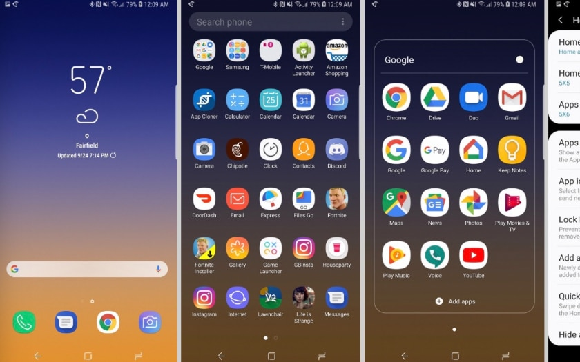 Le launcher officiel de Samsung Experience 10 est disponible