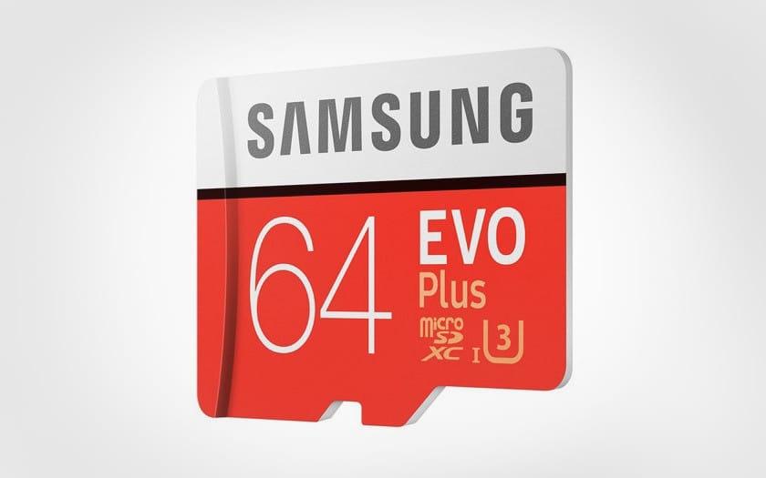 carte mémoire Samsung evo plus 64 go