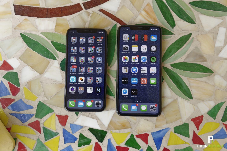 test iphone xs max ecran