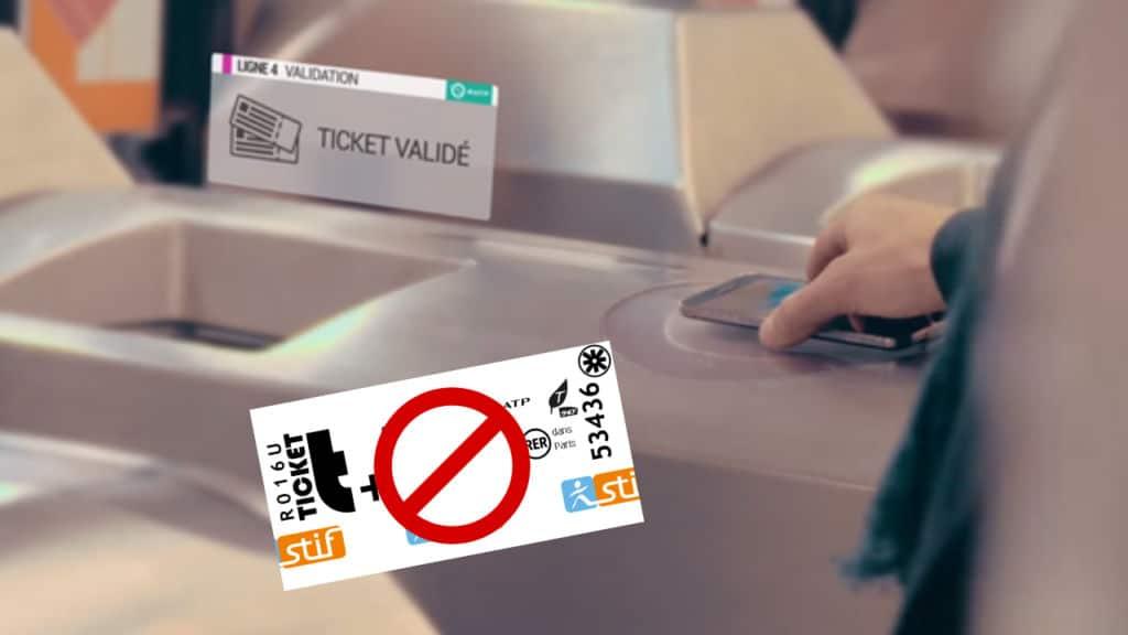 ticket metro smartphone