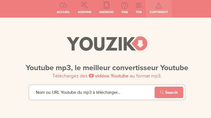 youzik Youtube mp3, le meilleur convertisseur Youtube
