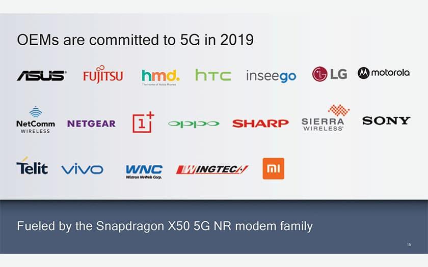 5G Qualcomm smartphones compatibles