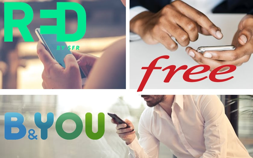 Promo forfait Free Mobile, RED SFR et B&You