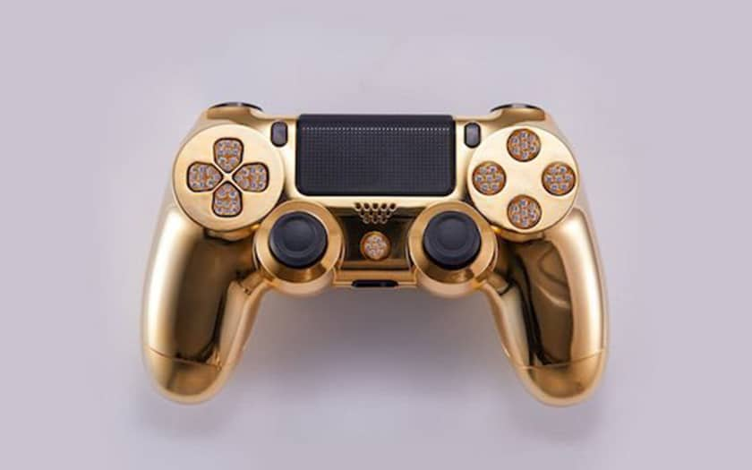 ps4 or diamants manette