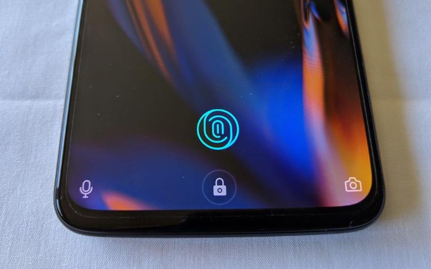 capteur empreintes sous l'écran du OnePlus 6T