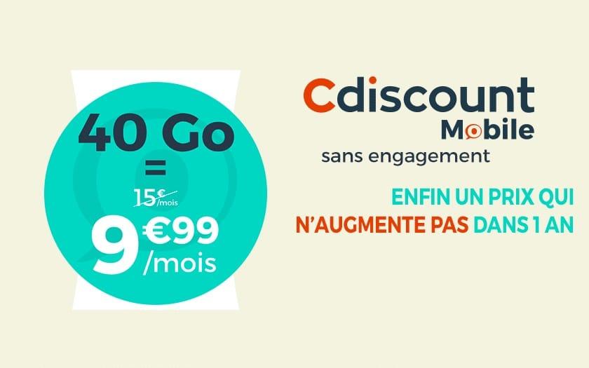 cdiscount mobile 40 Go