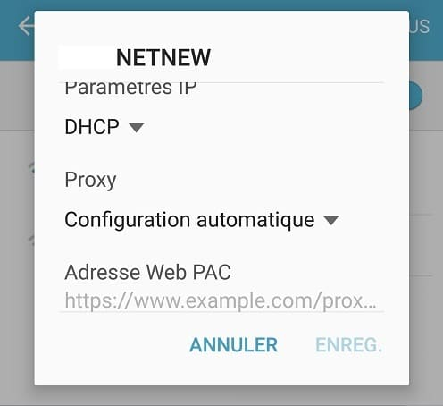 Configuration automatique d'un proxy sur Android