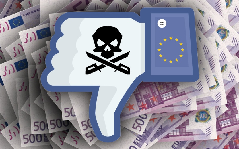 facebook piratage amende europe