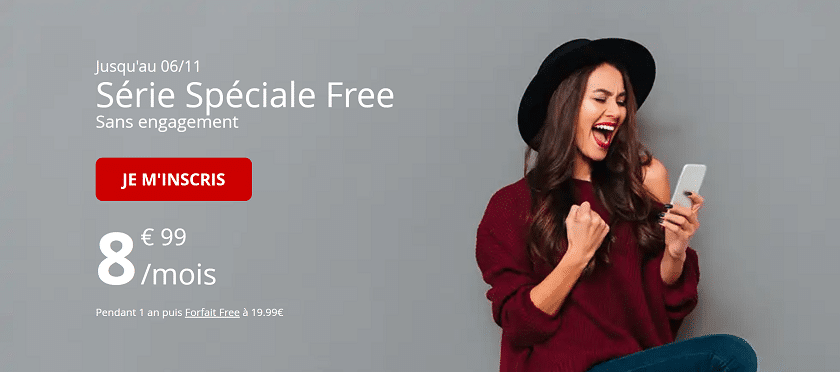 forfait free mobile 60 Go serie speciale