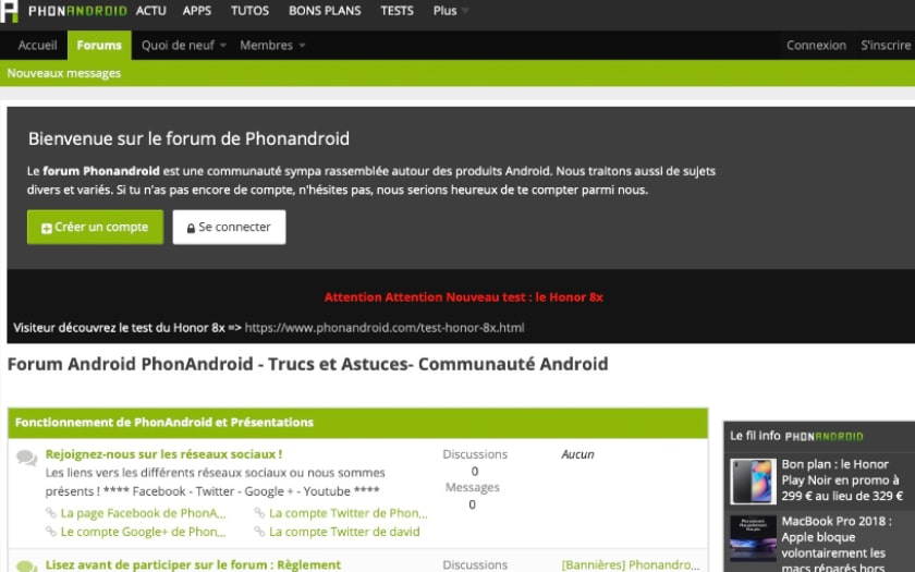 forum phonandroid design