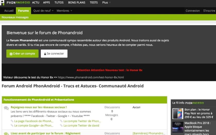 forum phonandroid design