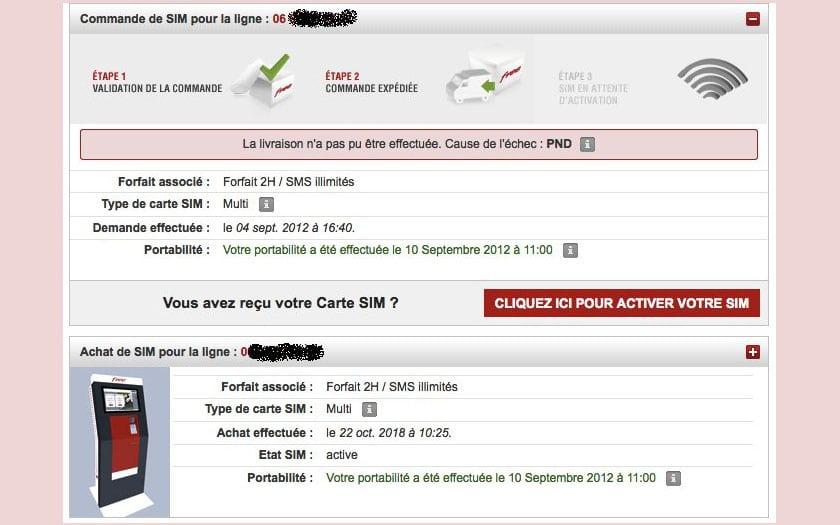 free mobile demande nouvelle carte sim