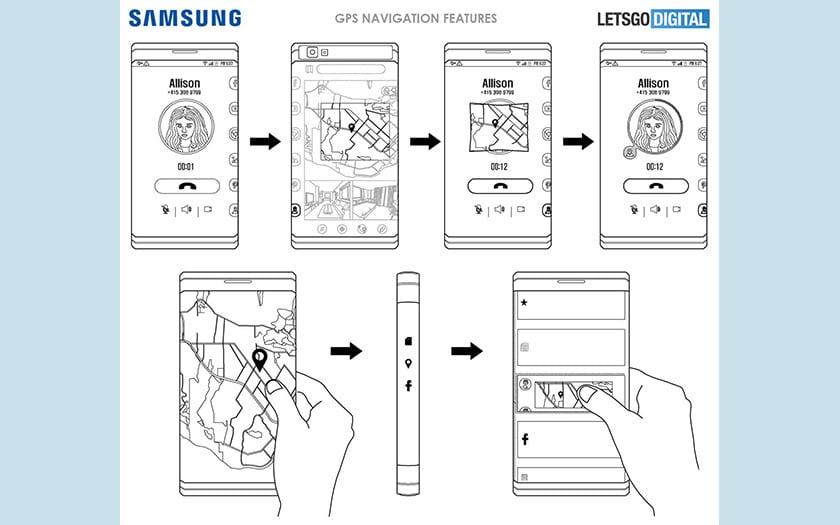 galaxy X smartphone pliable