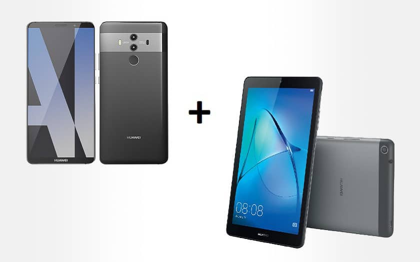 huawei mate 10 pro + tablette huawei maediapad t3