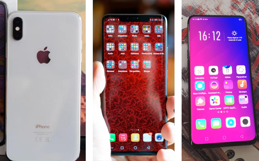 iPhone xs max Huawei Mate 20 pro Oppo find x