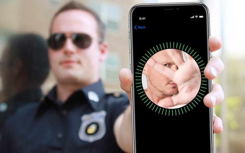 iPhone xs police Face ID