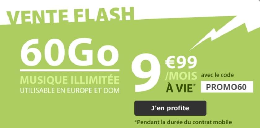 la poste mobile forfait 60 Go promo