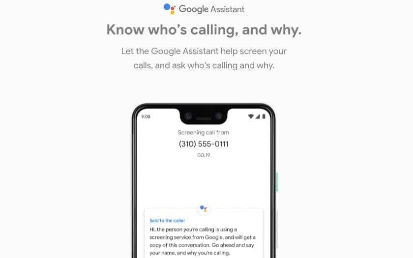 pixel 3 screen call