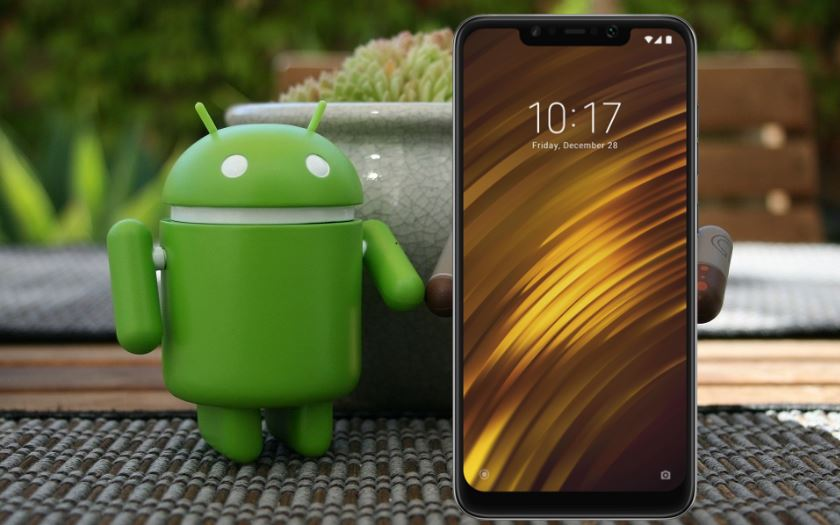 pocophone f1 mise a jour android q