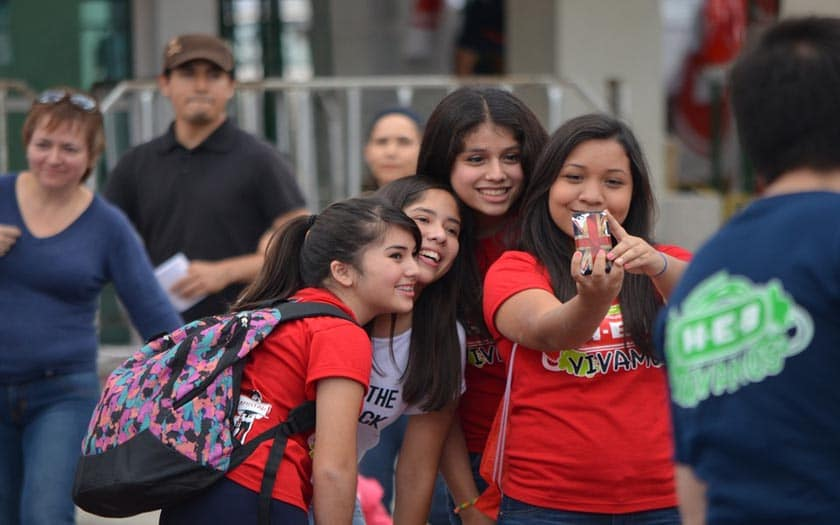 selfie lycée