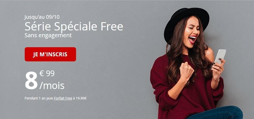 forfait free mobile 60 Go à 8.99 € pendant 1 an