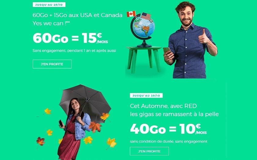 Le Forfait Mobile Illimite Red By Sfr 40 Go Et 60 Go En Promo