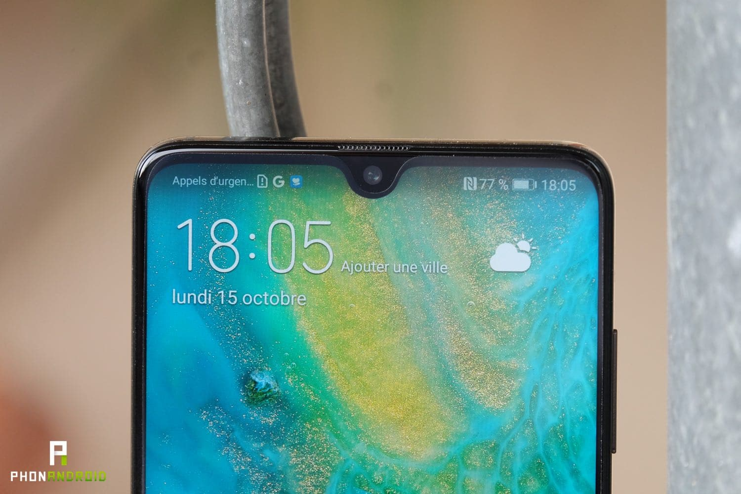 test huawei mate 20 ecran encoche
