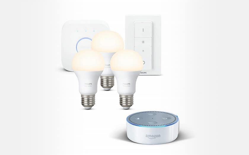 Amazon Echo Dot Kit de demarrage Philips Hue