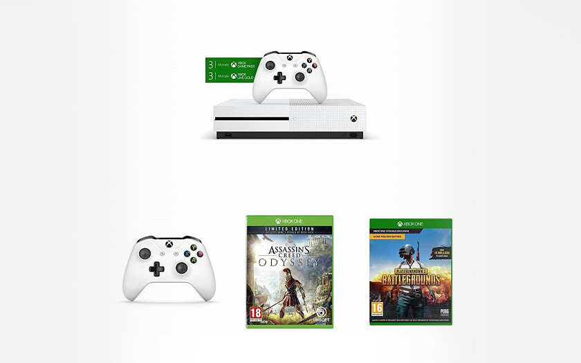 Black Friday Xbox One S la console 1To + 2 manettes + 3 jeux