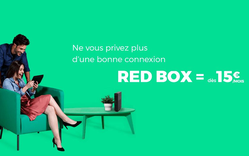 abonnement internet sfr red box à 20 € / mois