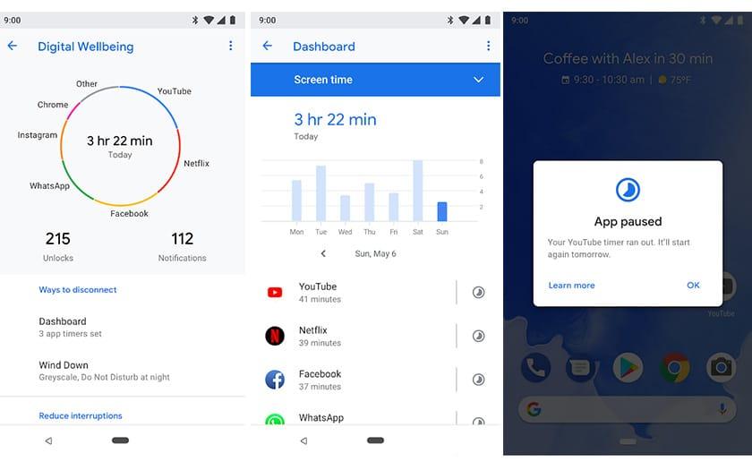 android google bien etre numerique application deconnecter smartphone